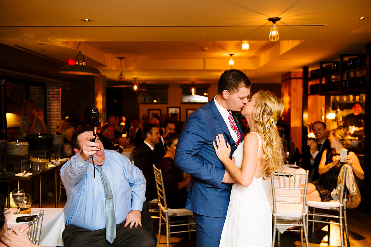 First Dance by a Bride and Groom at Precinct Kitchen + Bar