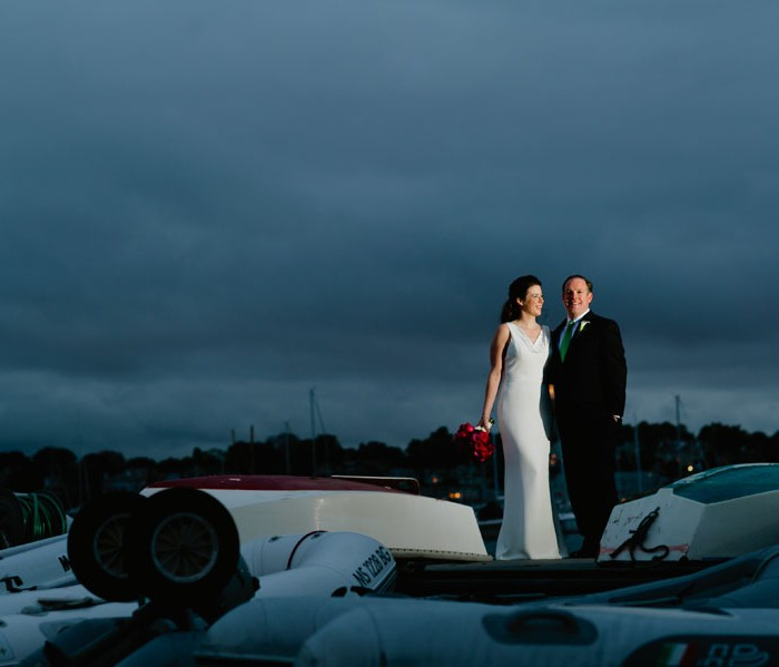 Ashley + Hugh at Eastern Yacht Club