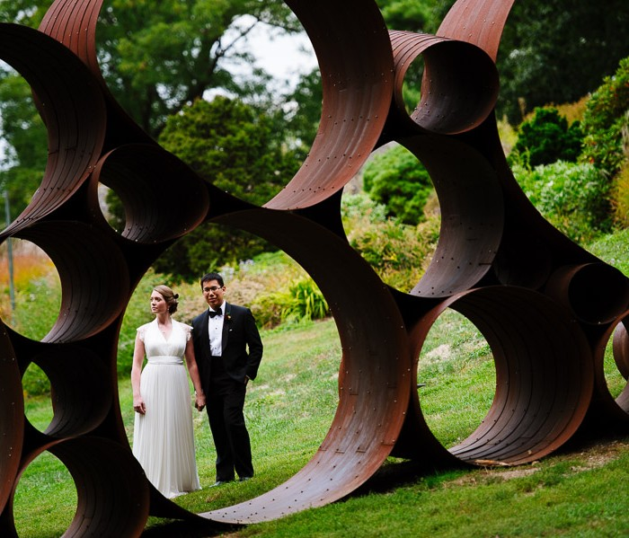 Ann + Peter at the deCordova Museum and Sculpture Park