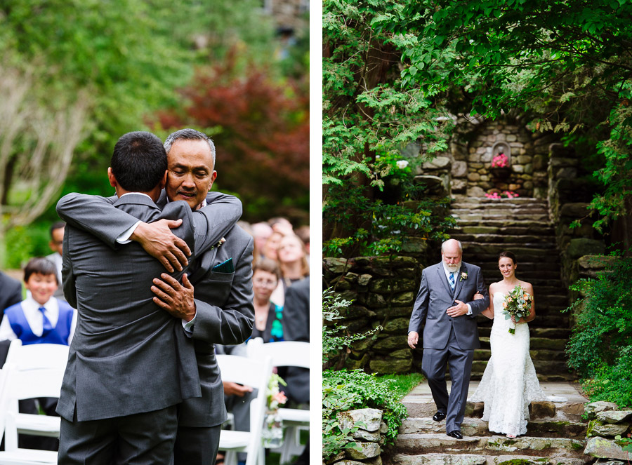 Bride and Groom processional at The Connors Center