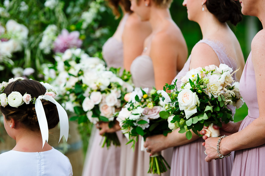Bridesmaid bouquets by Greenlion Weddings
