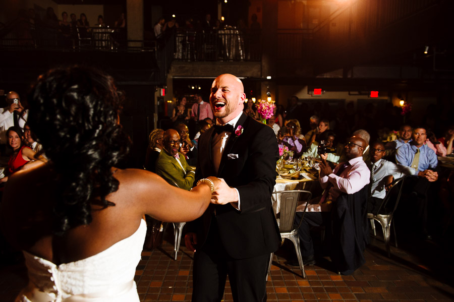 bride and groom share their first dance at The Sinclair