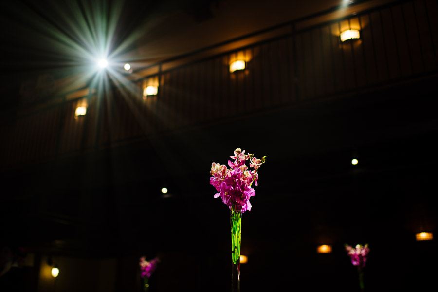 orchid centerpieces adorned the table at The Sinclair