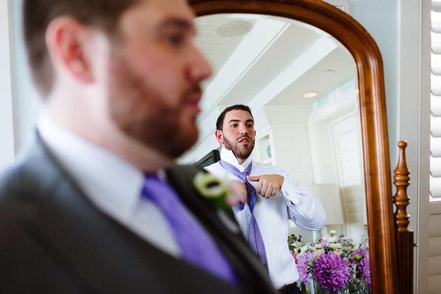Groomsmen getting ready at Wequassett Resort