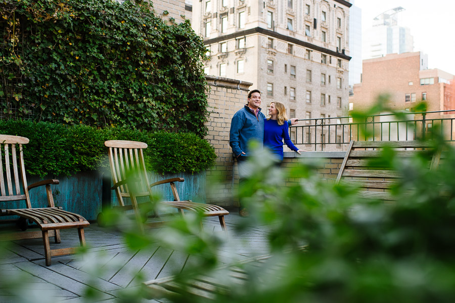 NYC rooftop engagement session