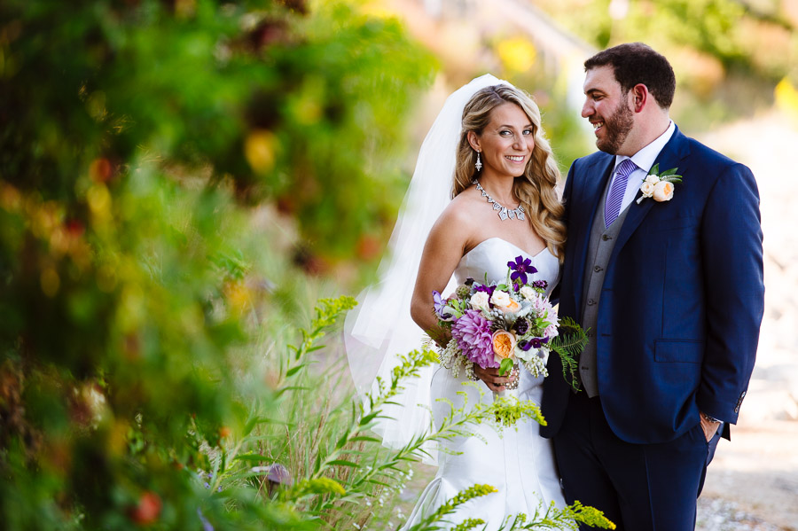 portrait of a bride and groom at Wequassett Resort