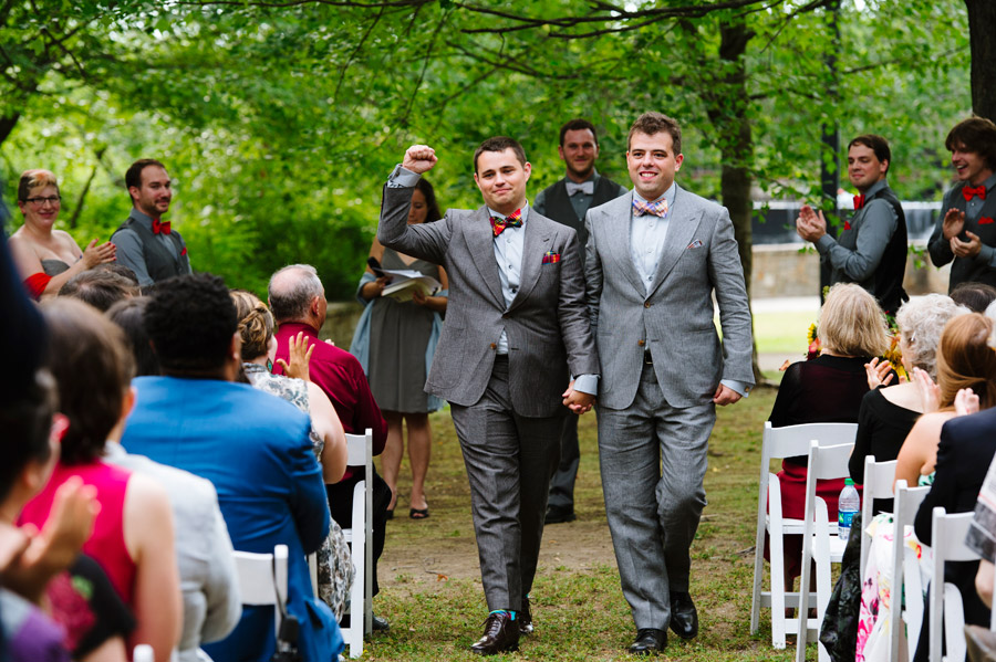 gay couple married at the Charles River Museum of Industry