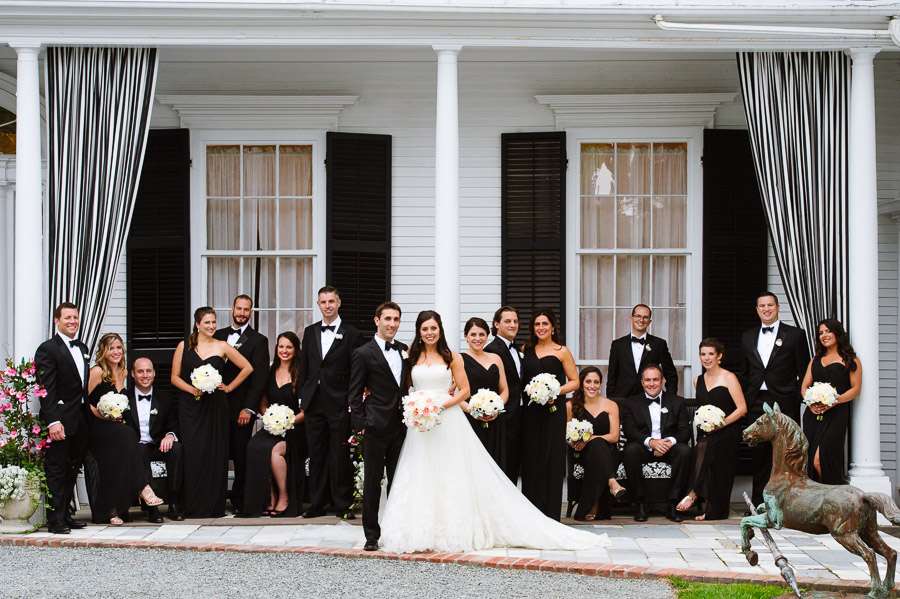 wedding party formal portrait at Linden Place