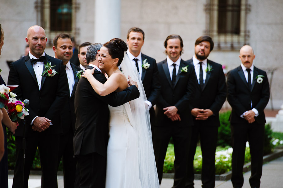 courtyard ceremony at the Boston Public Library