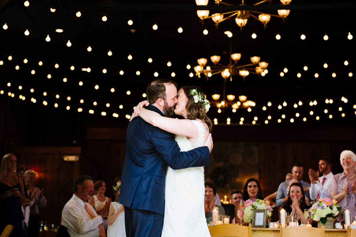 First dance of a couple at Mount Hope Farm