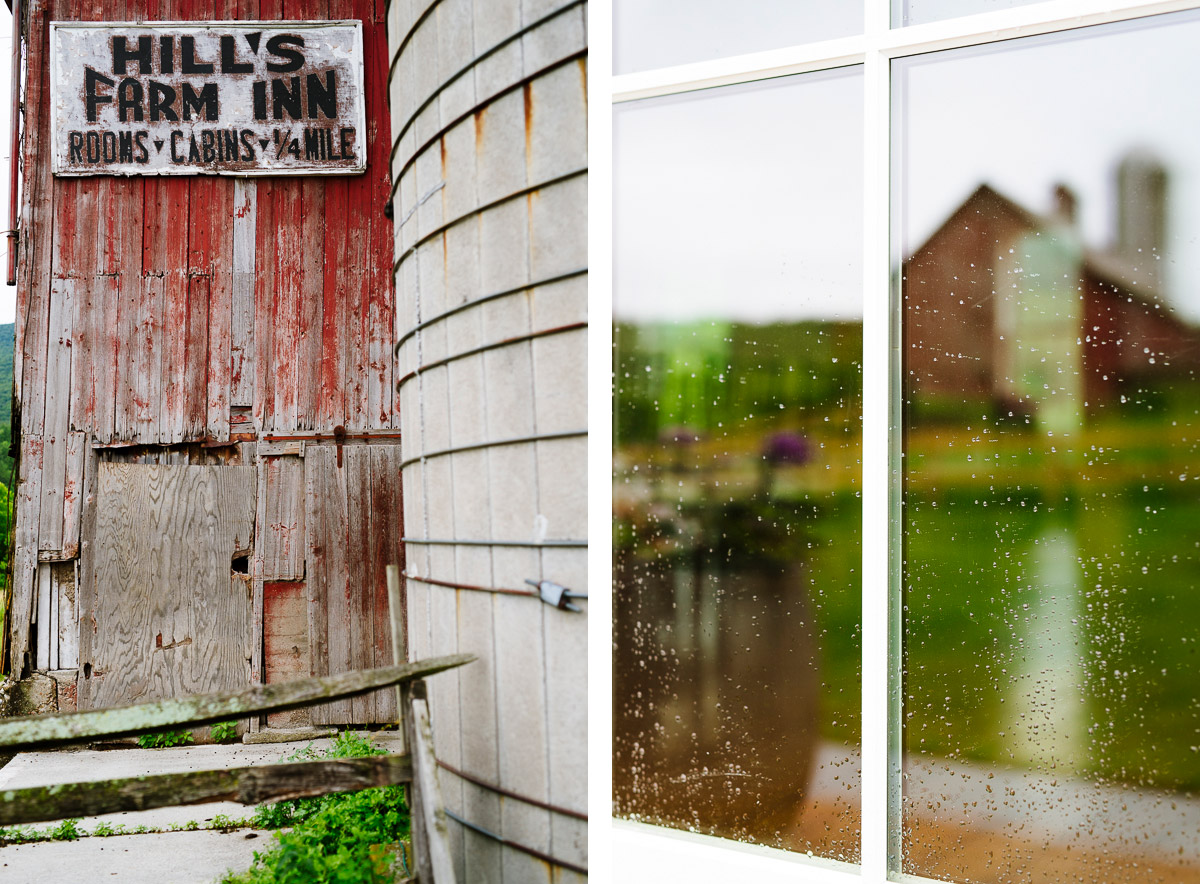 Barn reflections at Hill Farm Inn