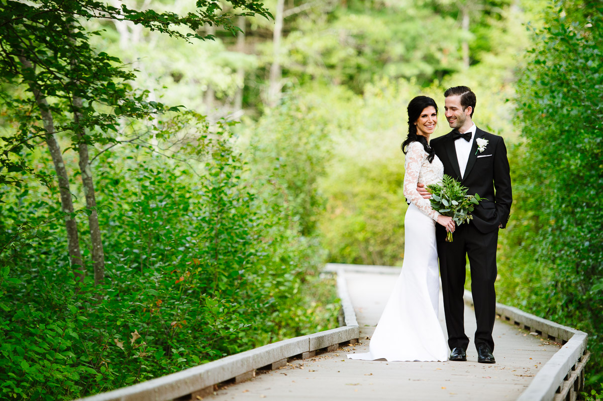 Portrait of a bride and groom at Willowdale Estate