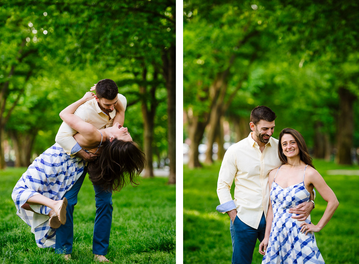 Commonwealth Mall spring engagement session
