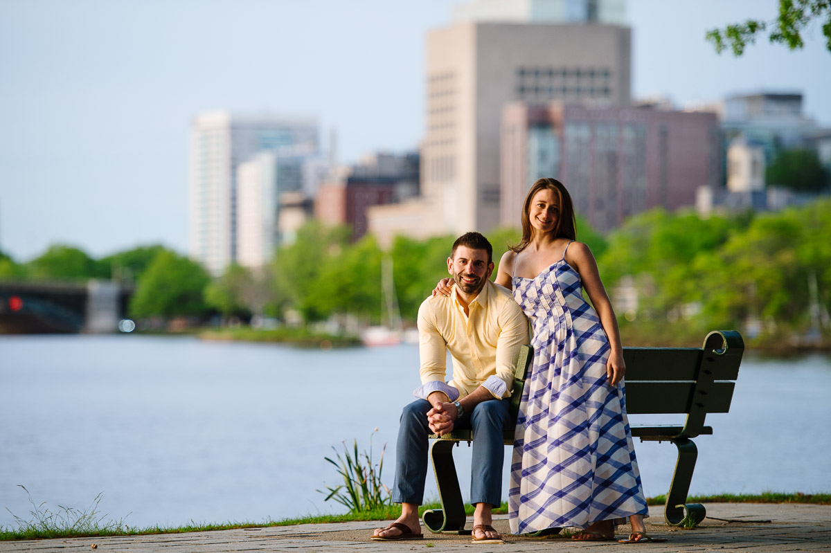 Engagement session on the Boston Esplanade
