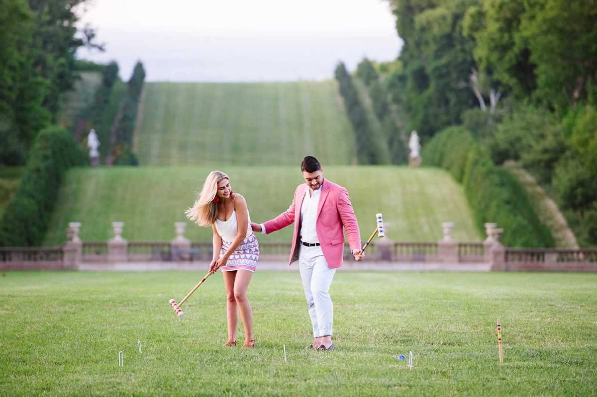 Croquet engagement session New England