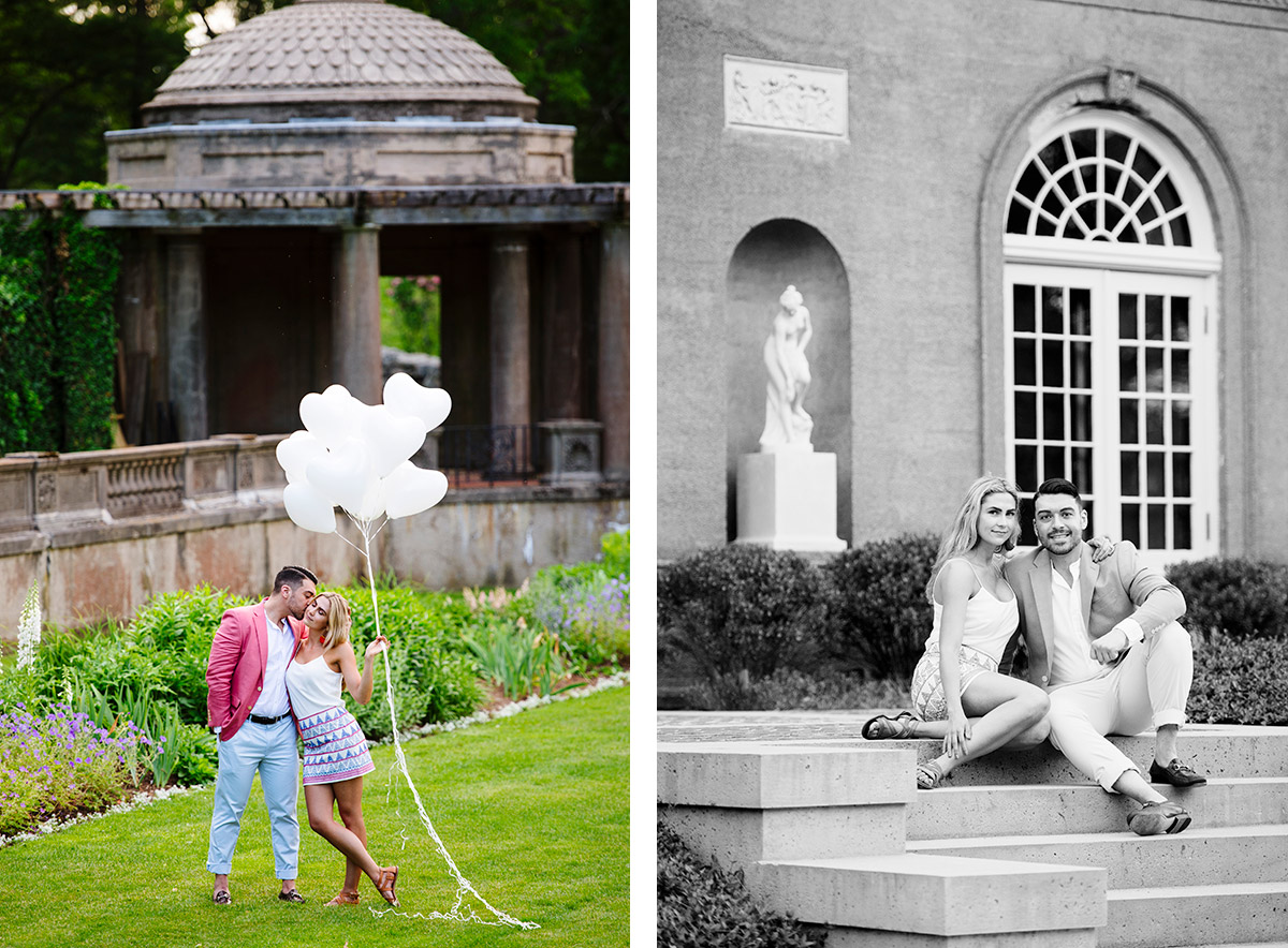 European inspired engagement session Crane Estate