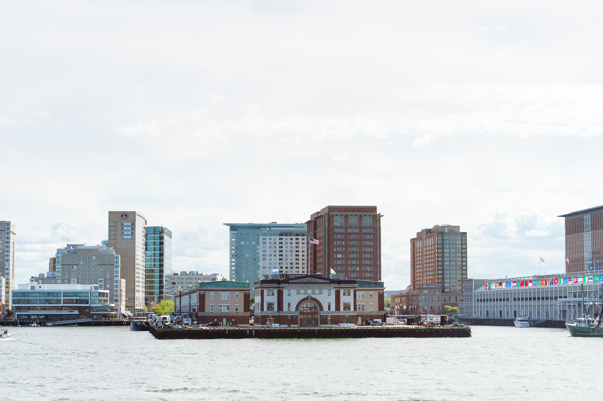 View of the Exchange Conference Center from the harbor