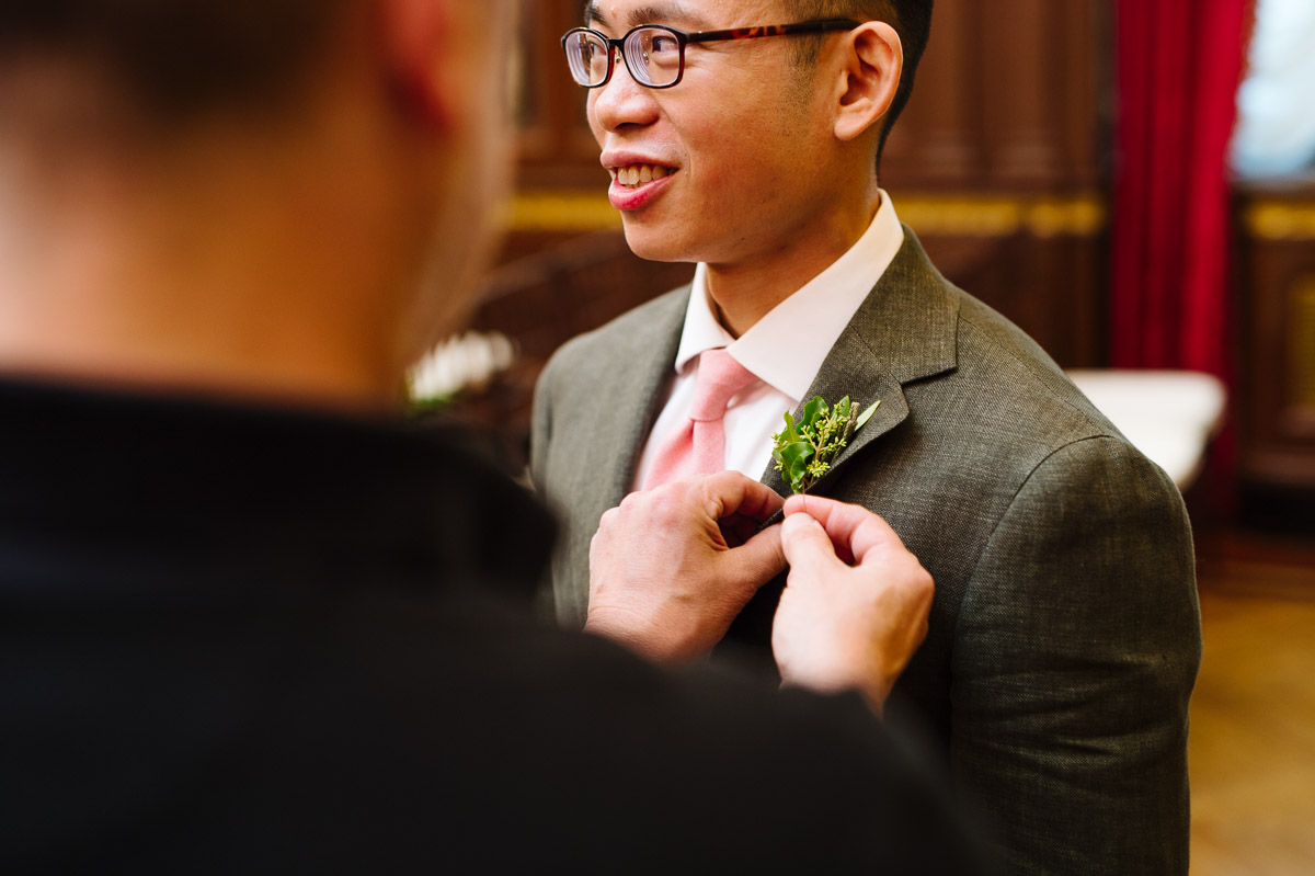 Winston Boutonnieres for a same sex wedding Boston