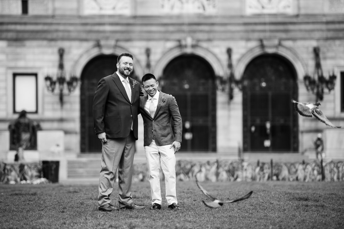 Two Grooms at the Boston Public Library
