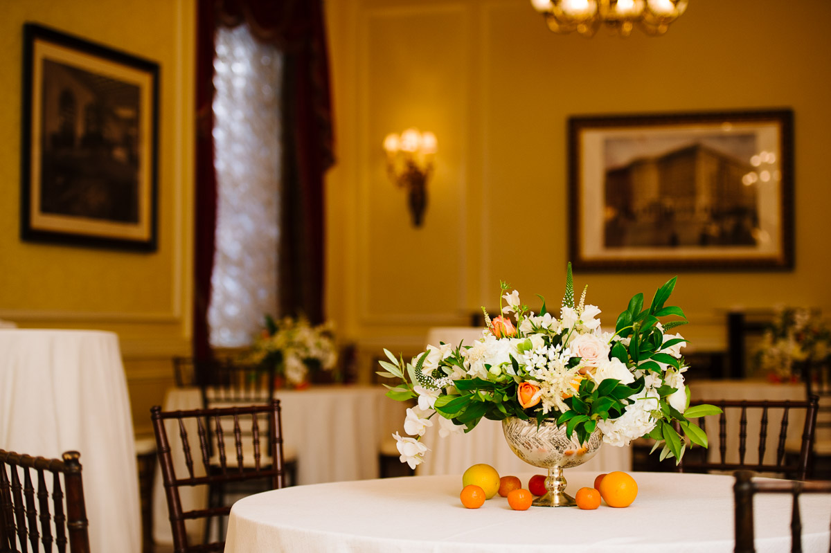 Brunch wedding reception in the Copley Room at the Fairmont Copley Plaza Boston