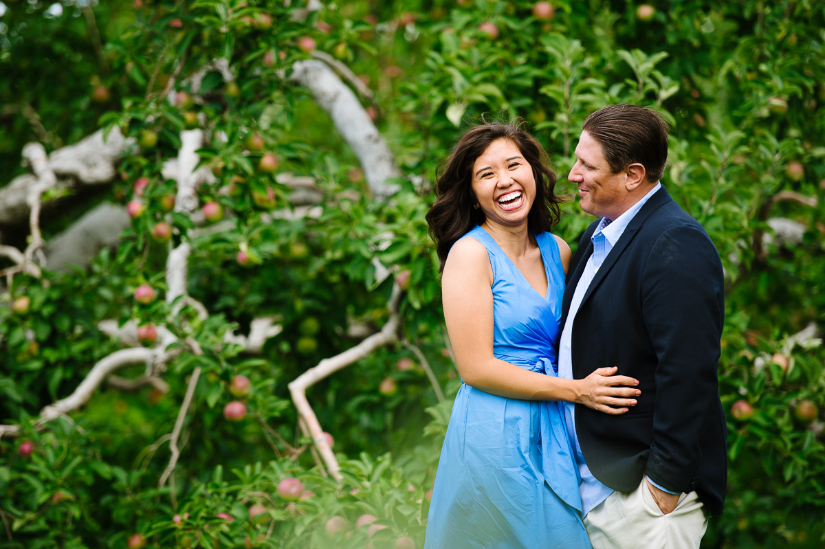 Engagement session at Honey Pot Hill Orchards