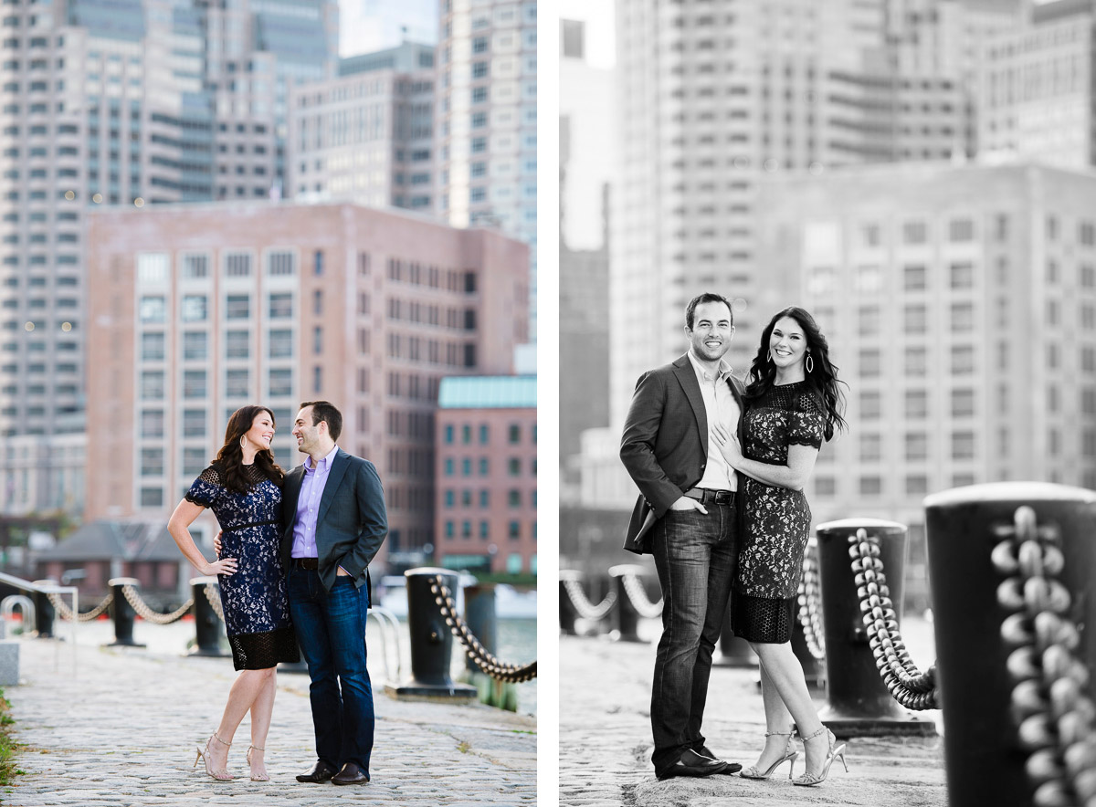 Boston engagement session in the Seaport District