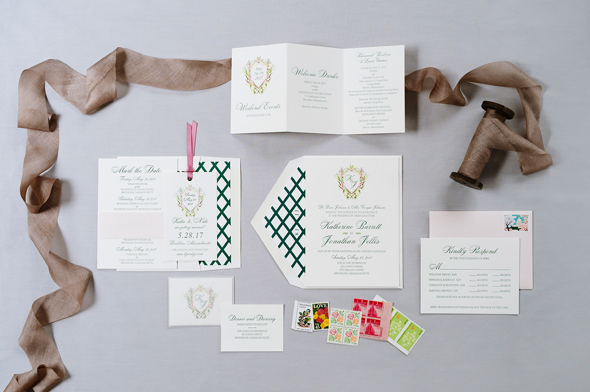Wedding invitation suite by Lynn Graham Designs