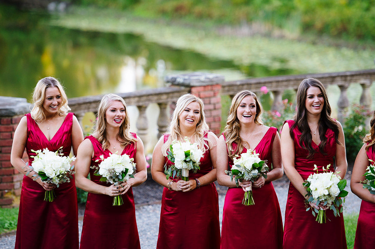 Burgundy bridesmaids dresses