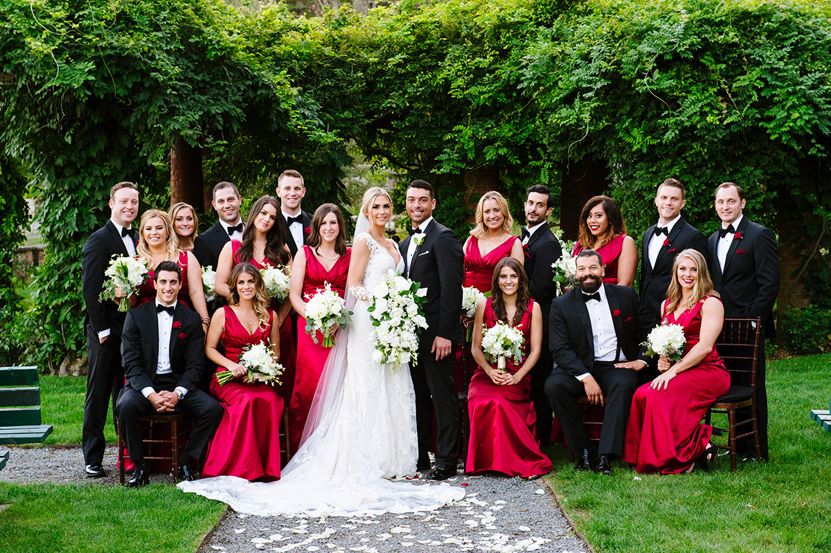 Bridal party formal at Turner Hill Mansion
