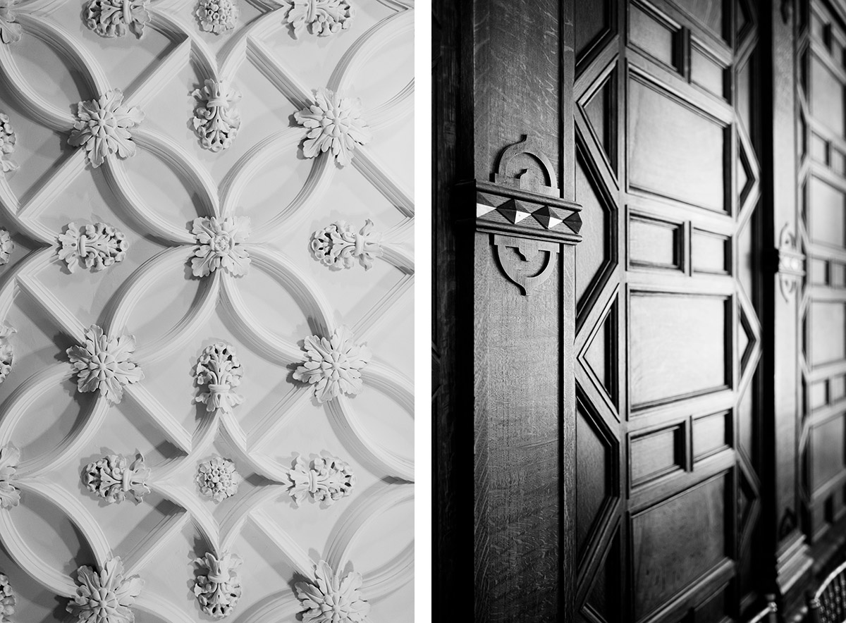 Black and white details at Turner Hill
