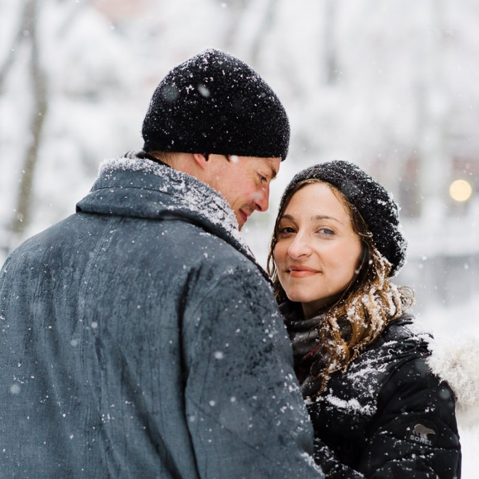 Winter Engagement Session in Boston