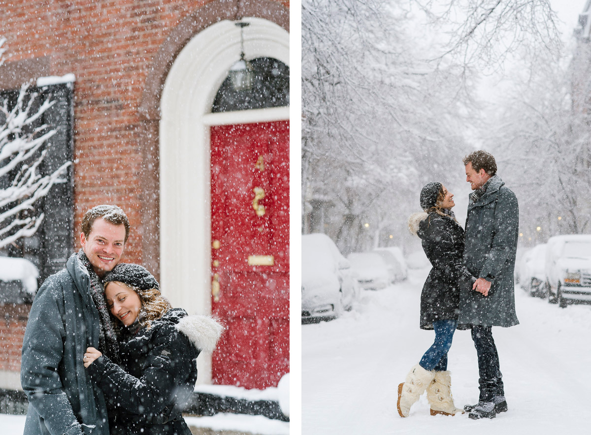 Nor'easter engagement session Boston