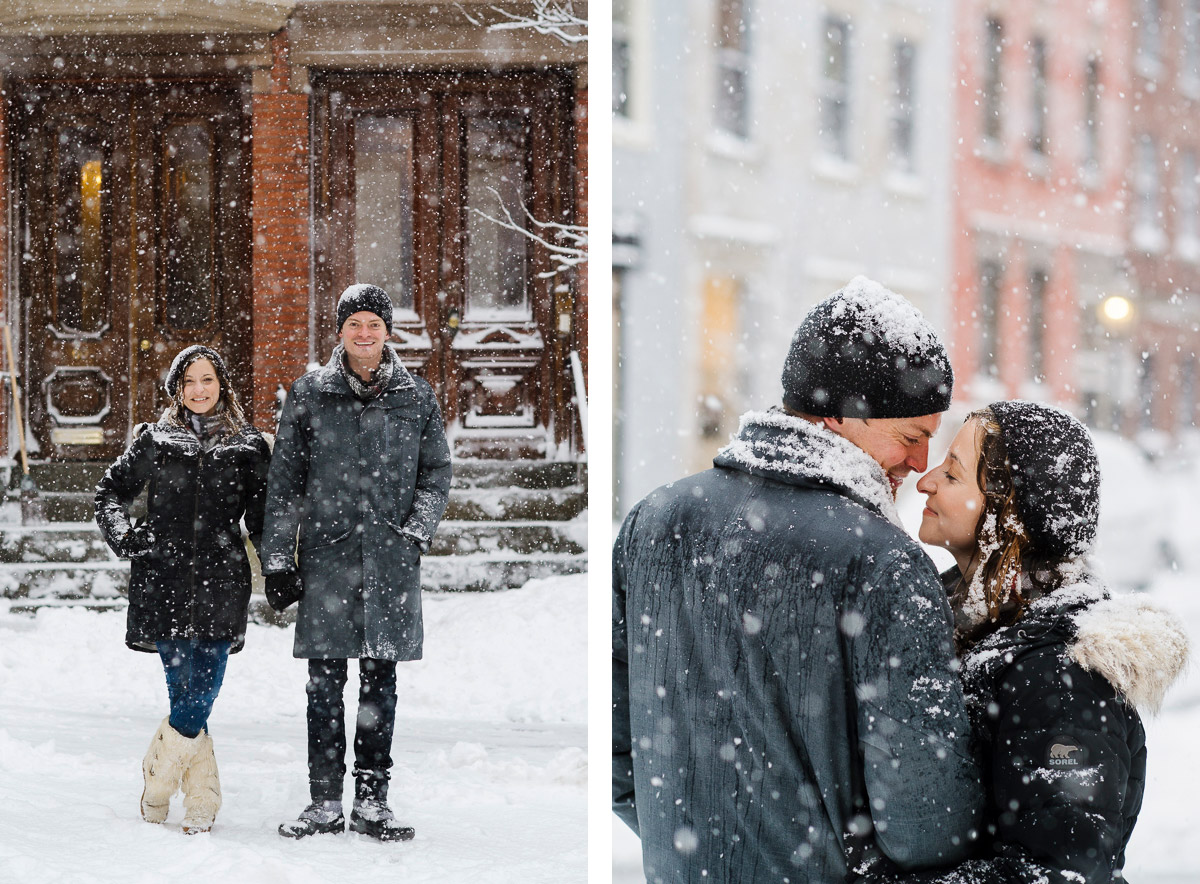 Winter in Beacon Hill engagement session