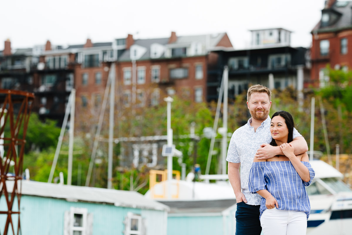 Boston Harbor Shipyard & Marina engagement session
