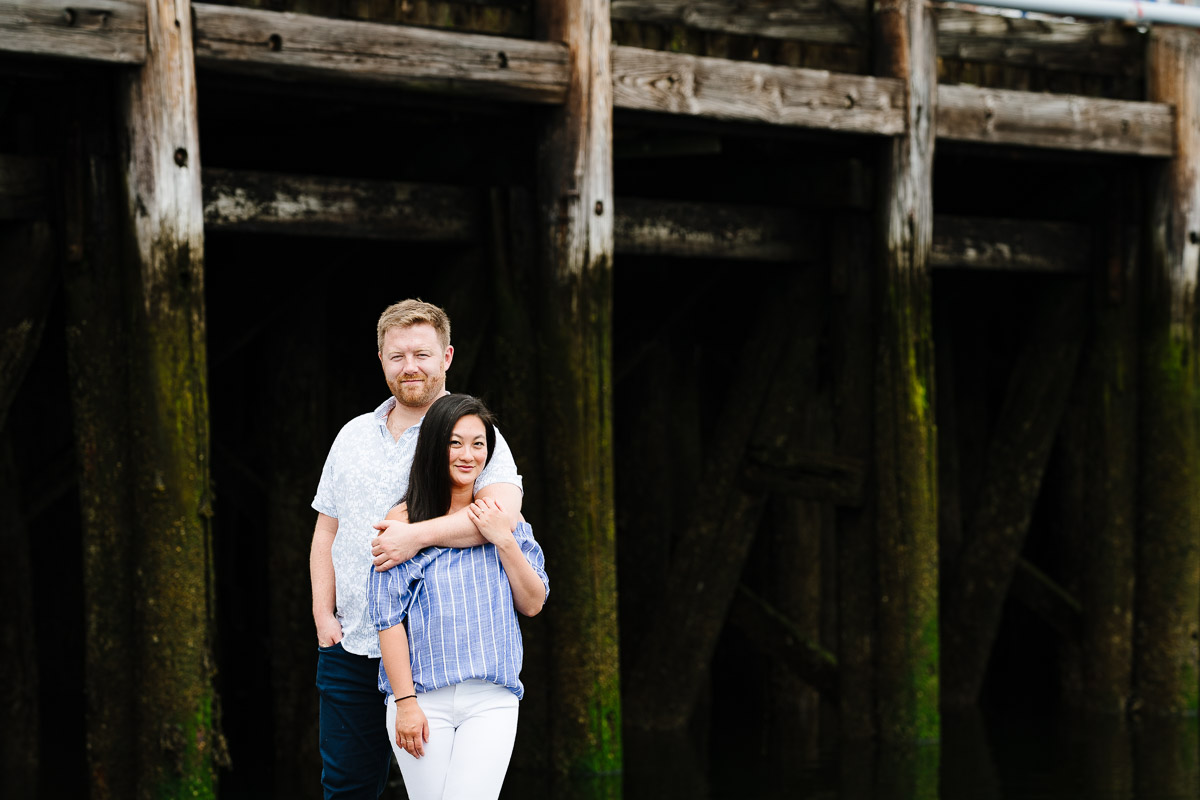 Engagement session at the pier East Boston