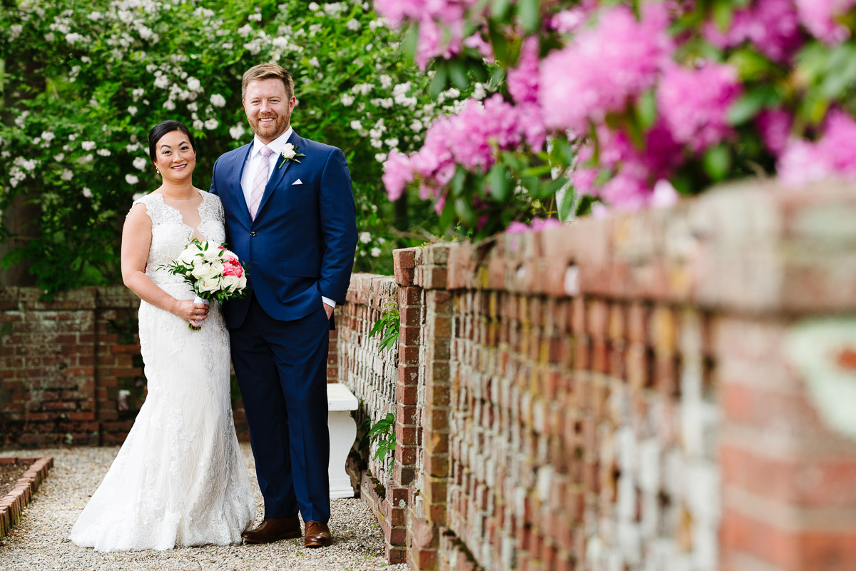Portrait of a Bride and Groom at the Bradley Estate