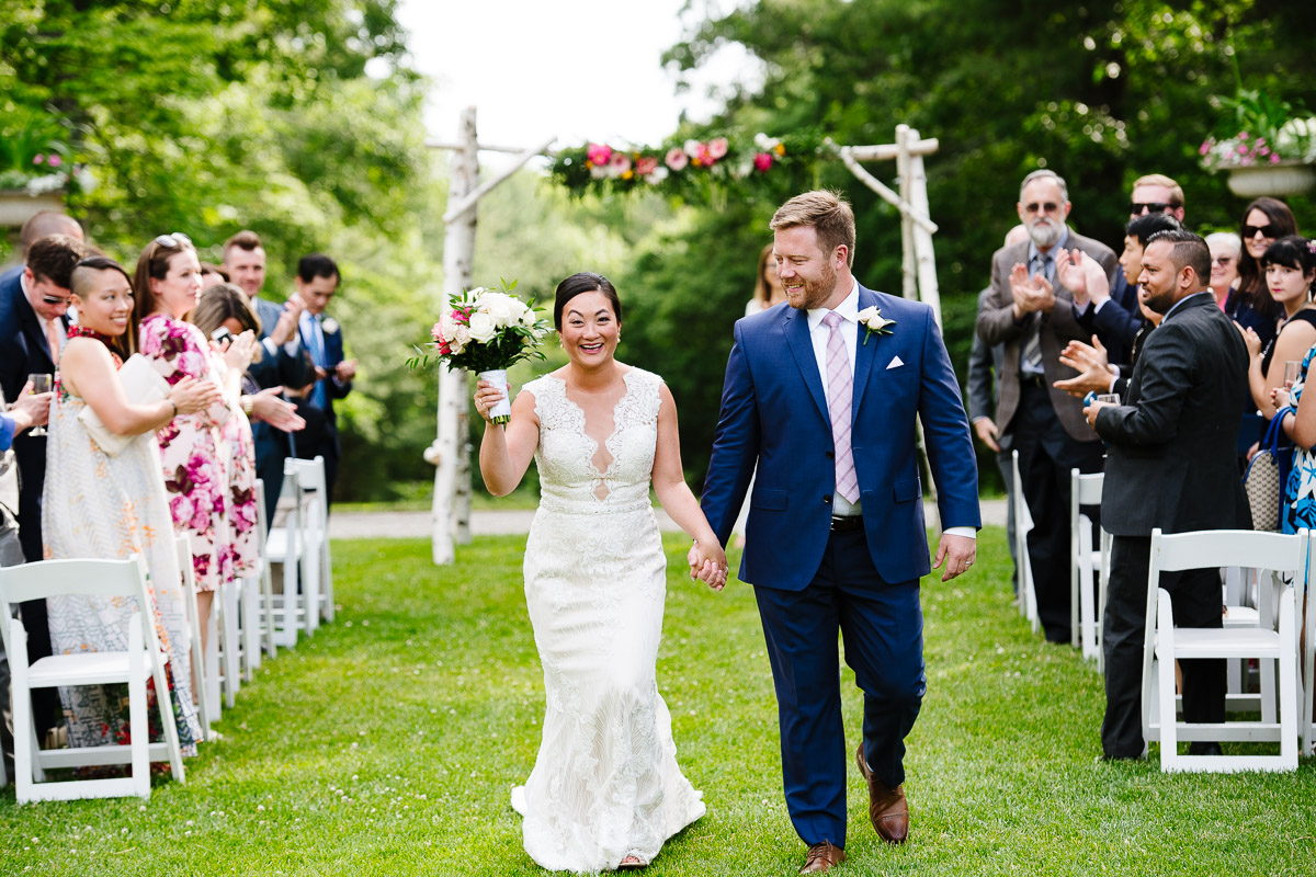 Outdoor wedding ceremony at the Bradley Estate