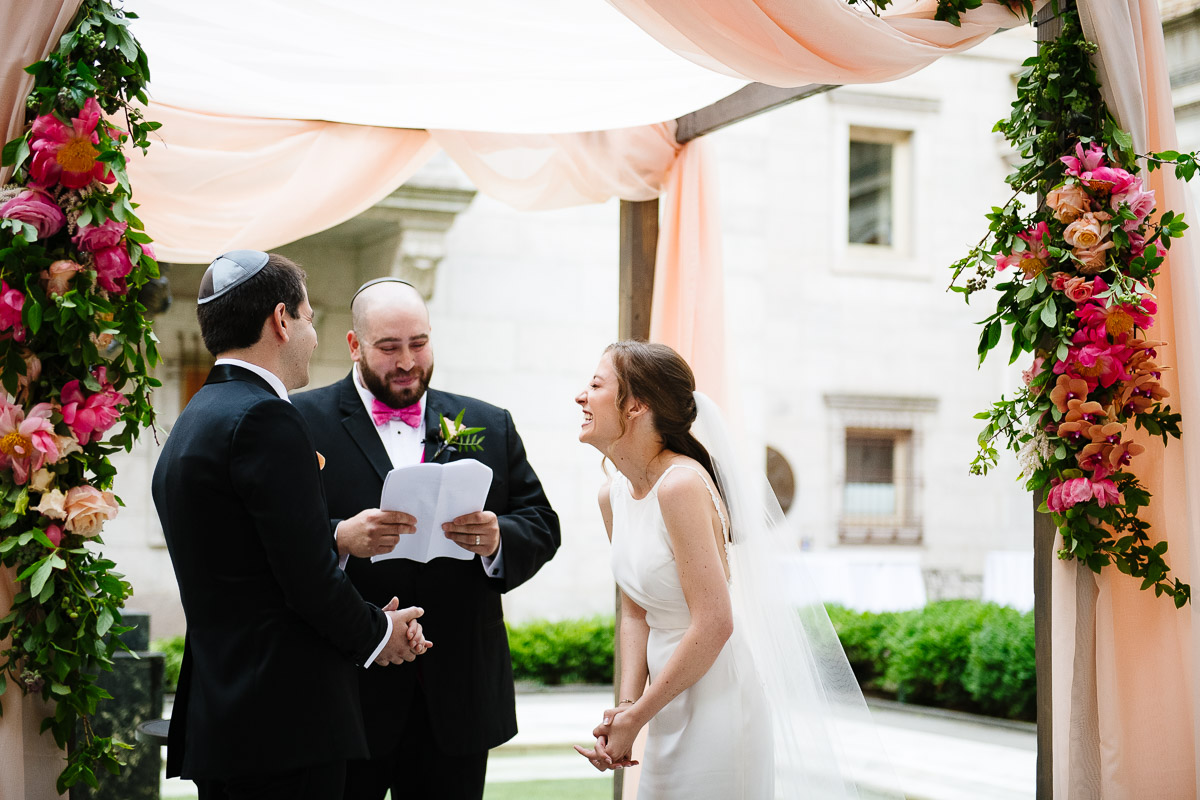 Outdoor courtyard ceremony at the Boston Public Library