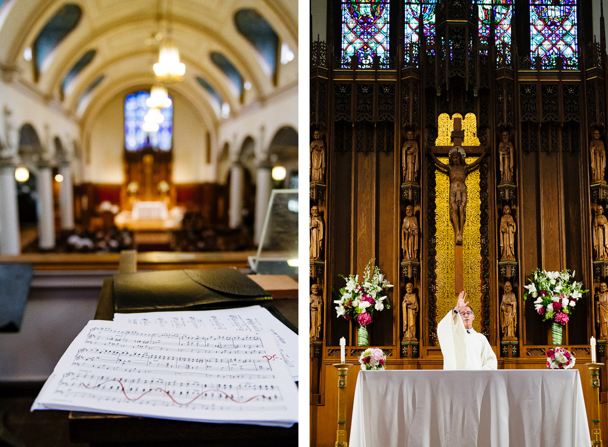 Wedding ceremony details from St. Joseph Parish Belmont