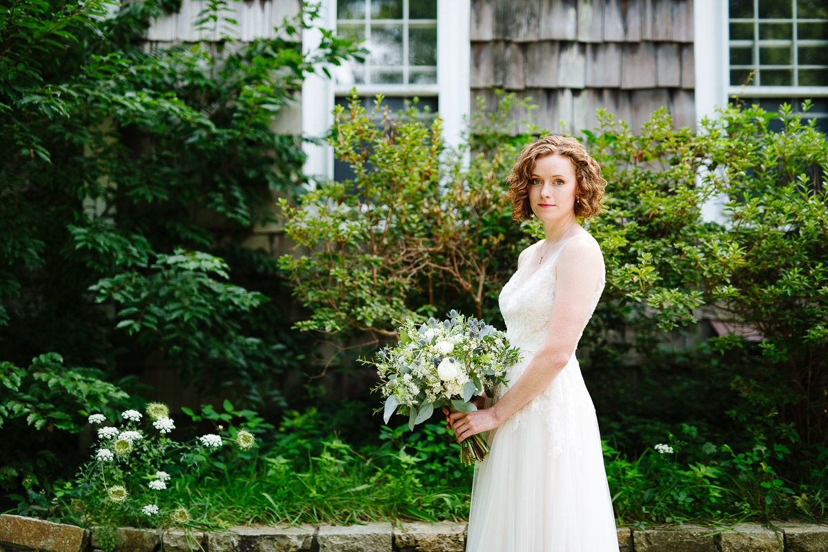 Bridal portrait on Cape Cod