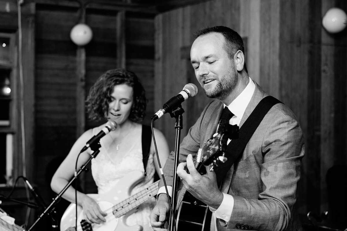 Bride and Groom play a song together