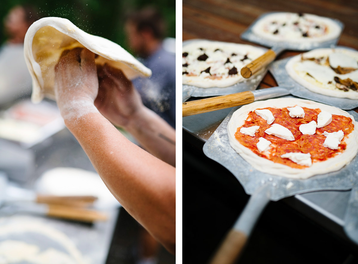 Ella's handmade pizza for wedding