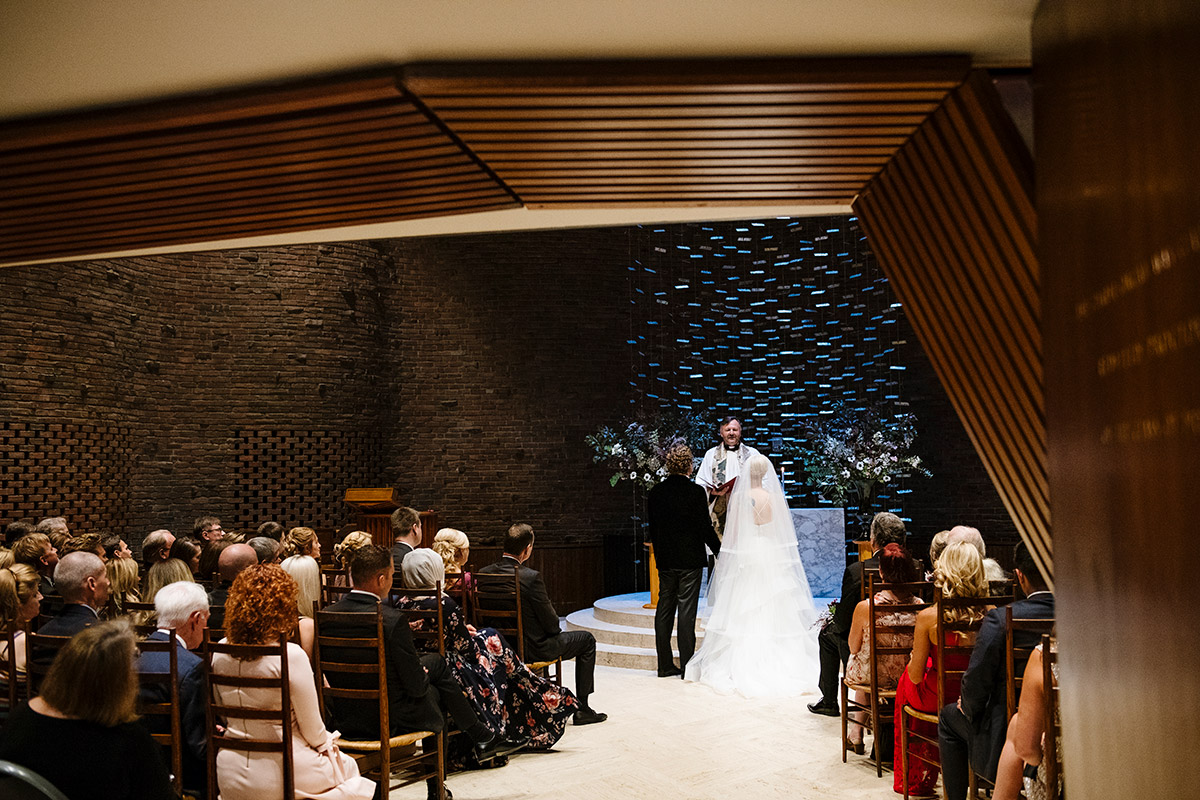 MIT Chapel wedding ceremony