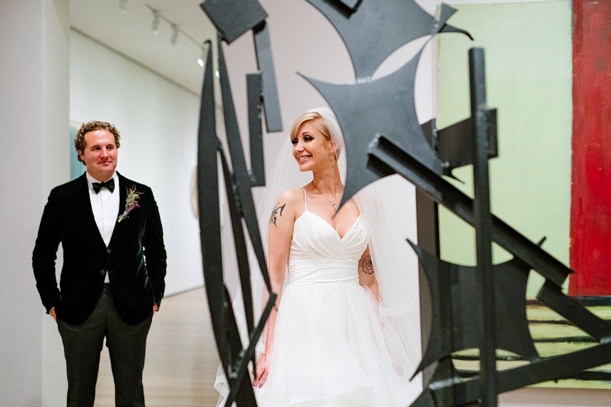 Portrait of a Bride and Groom in a Harvard Art Museum gallery
