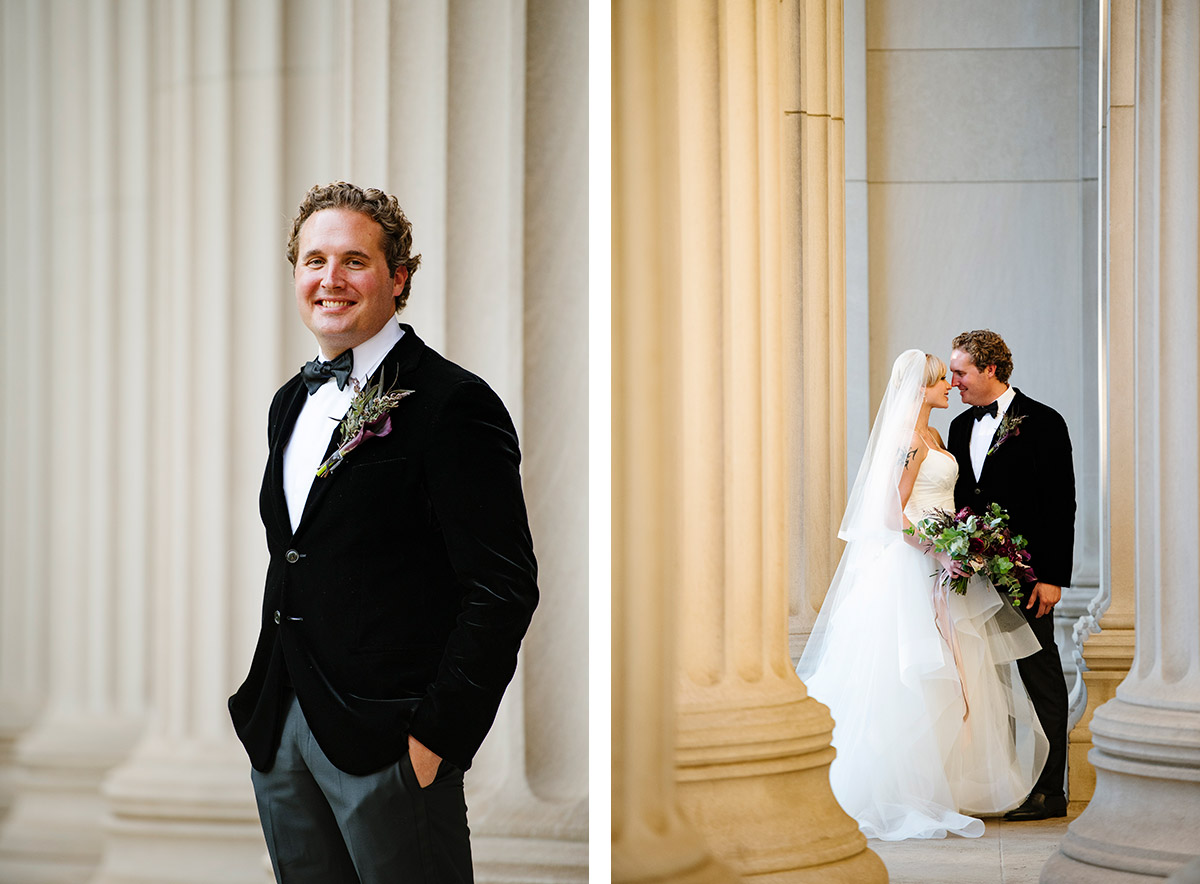 Portraits of a Bride and Groom at MIT