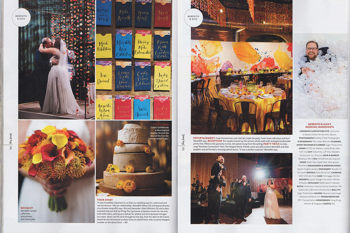 Cyclorama wedding featured in The Knot