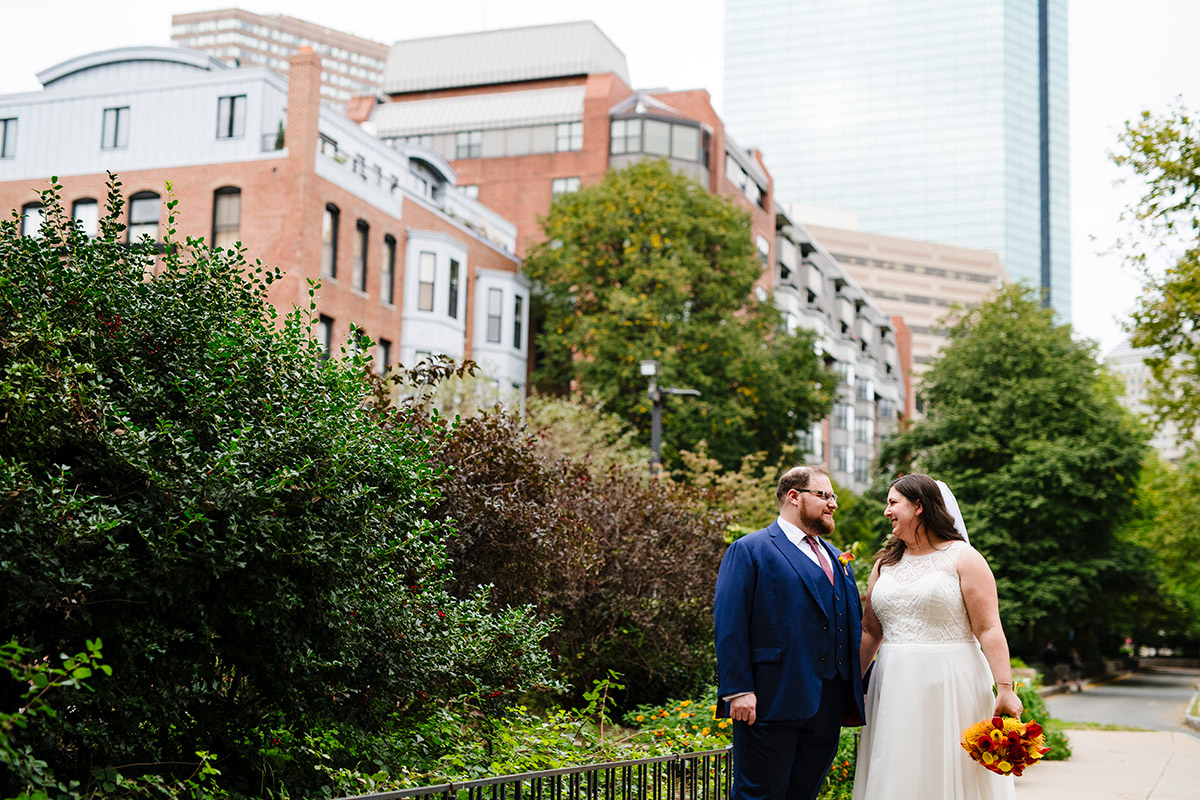 Portrait of a Bride and Groom in the South End of Boston