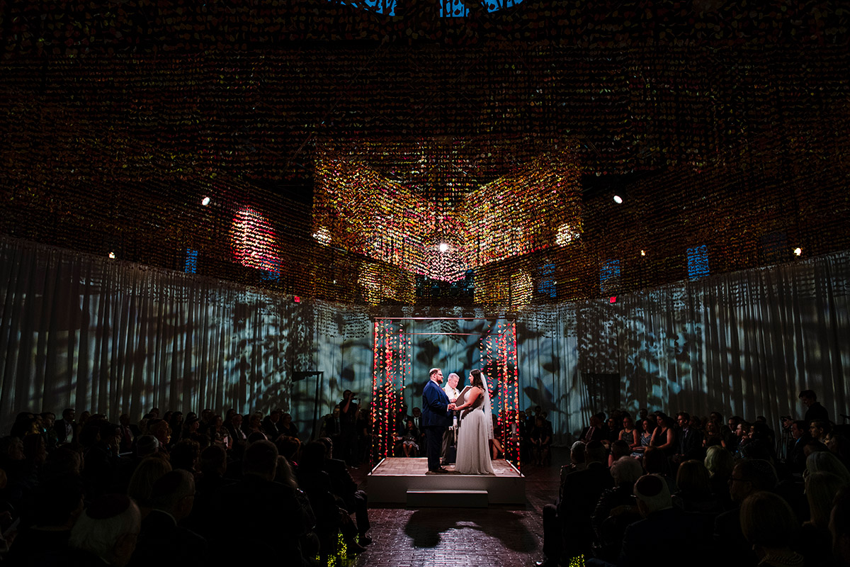 Wedding ceremony in the round at the Cyclorama Boston